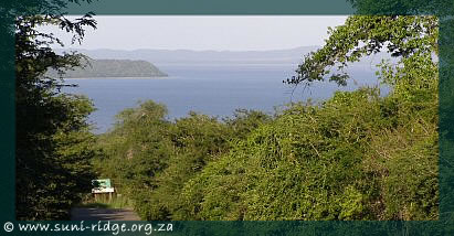 © View of False Bay in KwaZulu Natal, South Africa