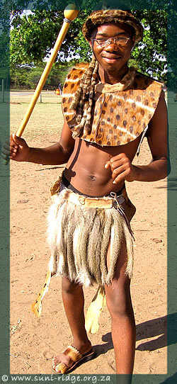 © Young Zulu dressed for Cultural event Makhasa High School
