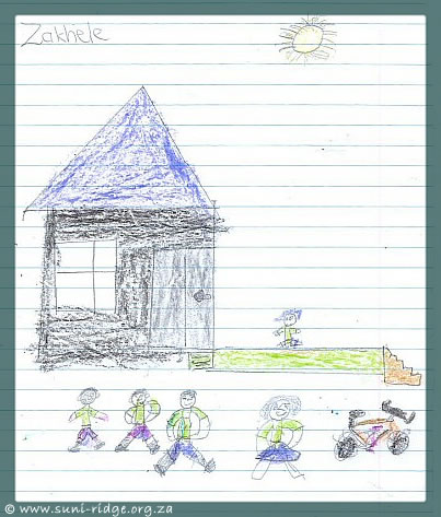 This picture was drawn by Zakhele, a pupil at False Bay School